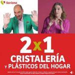 Soriana Julio Regalado 2020: 2x1 en Cristalería y plásticos de hogar
