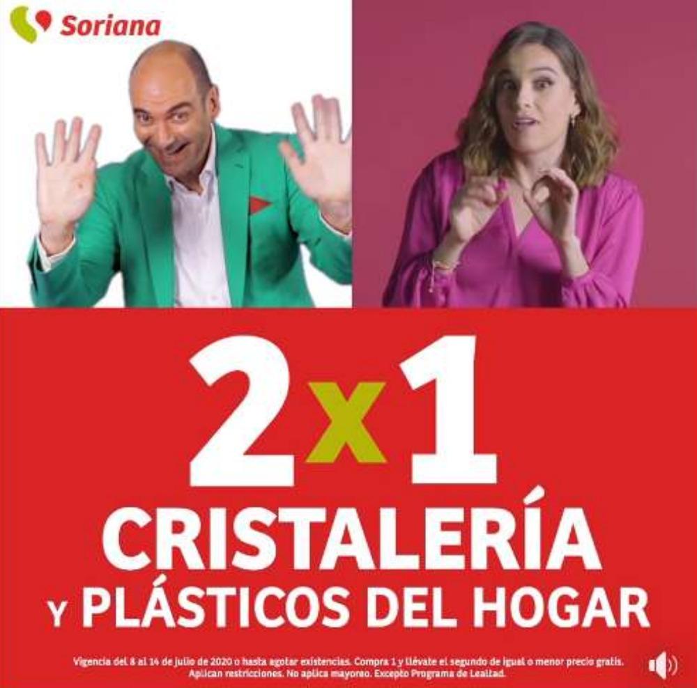 Soriana Julio Regalado 2020: 2×1 en Cristalería y plásticos de hogar