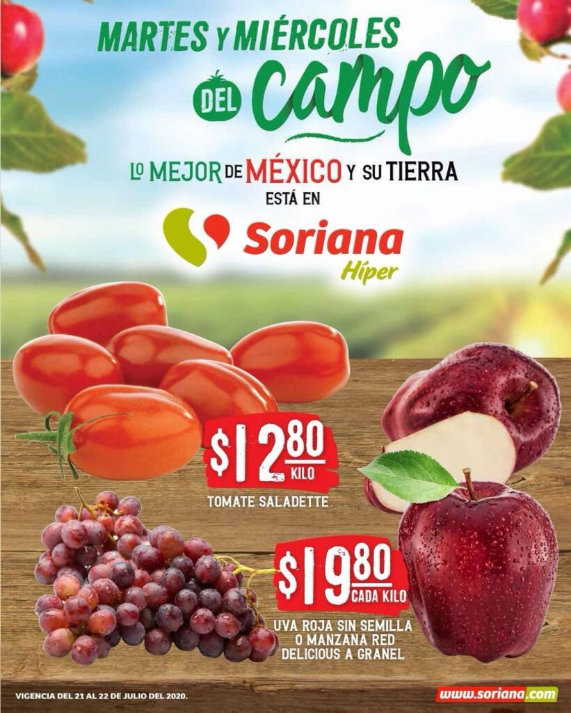 Folleto Soriana Martes y Miércoles del Campo 21 y 22 de julio 2020