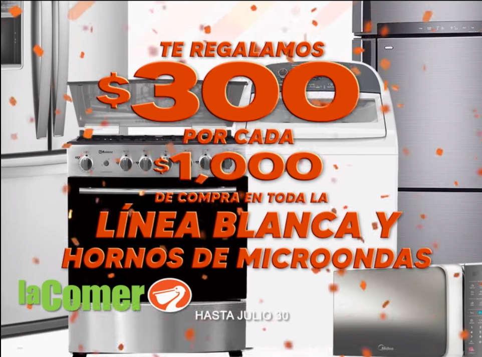 La Comer Temporada Naranja 2020: $300 por cada $1000 de compra en línea banca y hornos de microondas