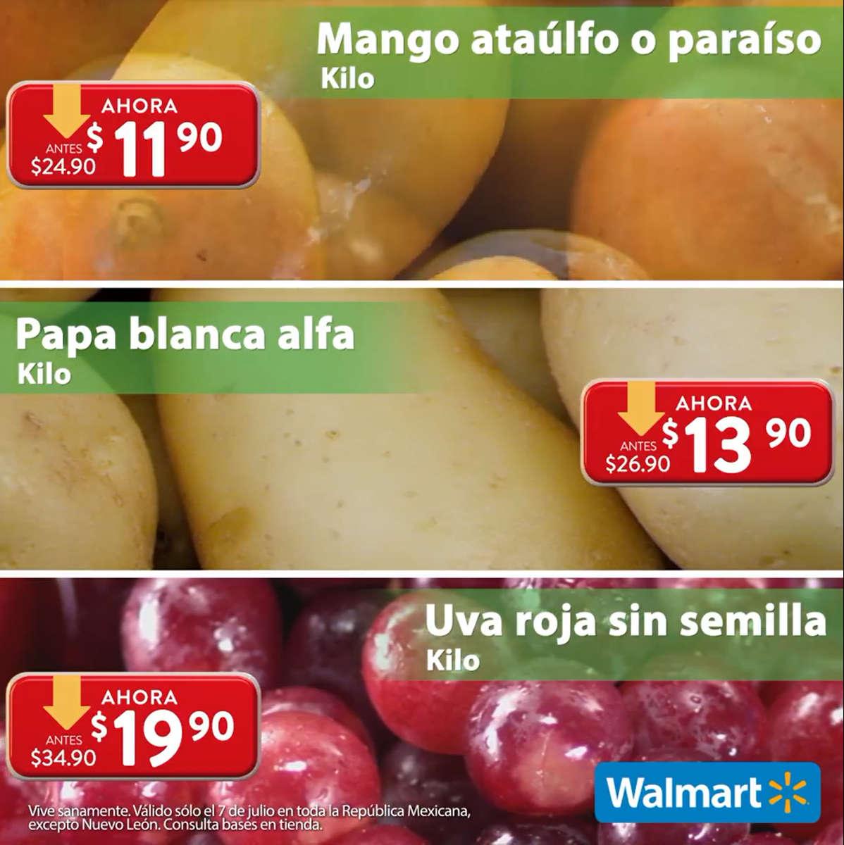 Folleto Martes de Frescura Walmart 7 de julio 2020