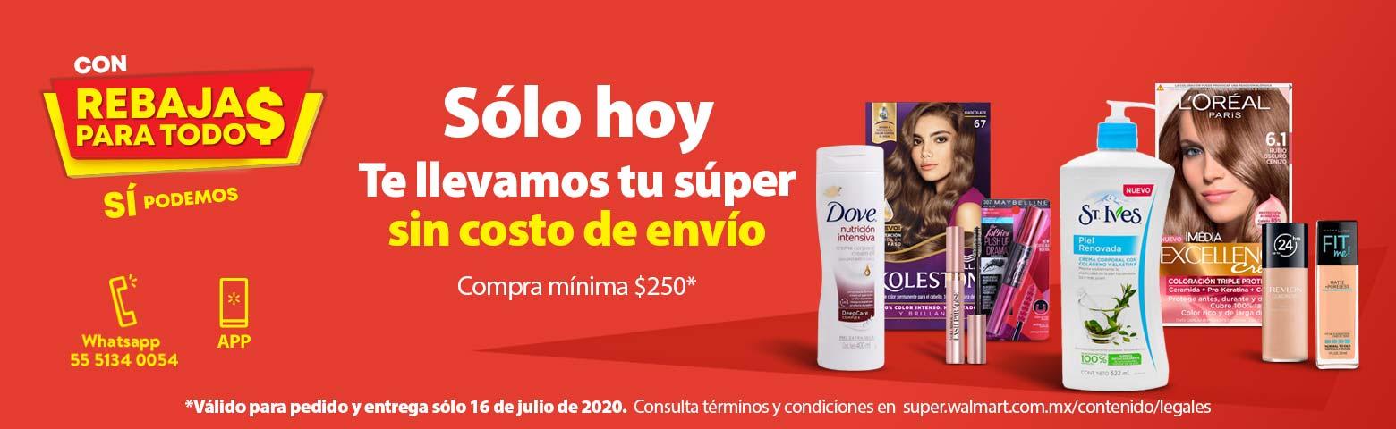 Walmart – Envío gratis Súper Jueves 16 de julio 2020