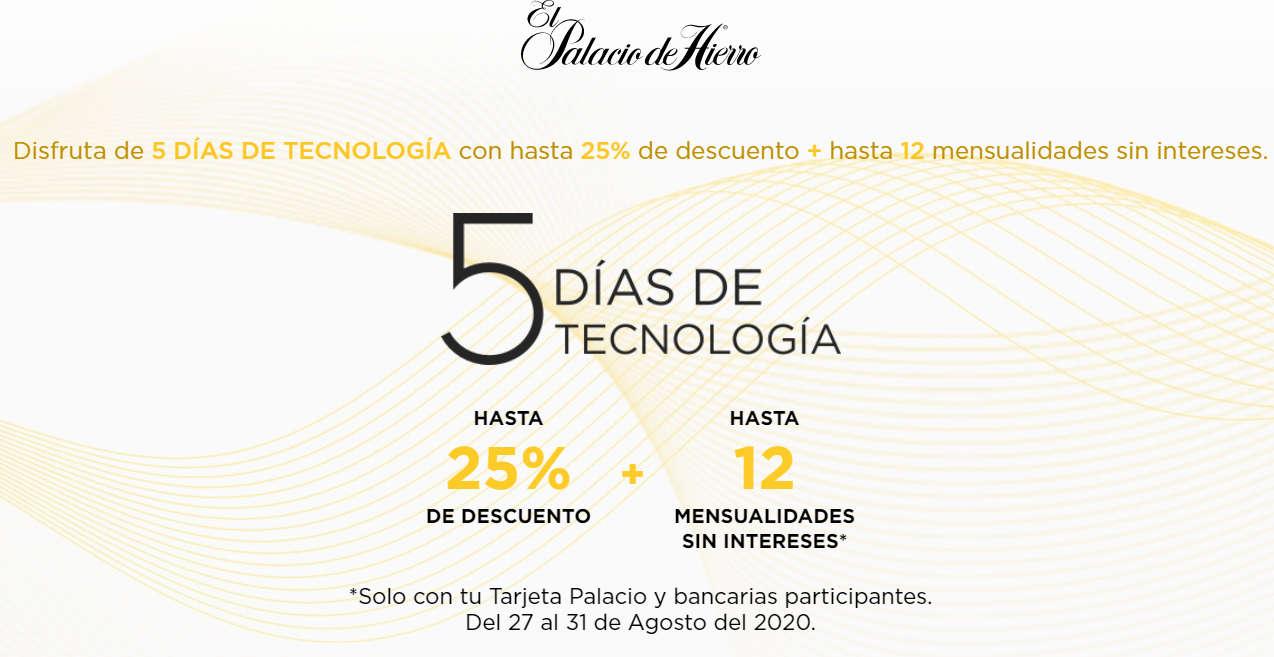 El Palacio de Hierro 5 Días de Tecnología del 27 al 31 de agosto de 2020