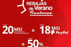 Sanborns Rebajas de Verano 2020: hasta 50% de descuento o 20 msi