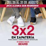 Sears: 3×2 ó 30% de descuento en zapatería del 26 al 31 de agosto 2020