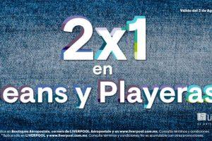 Aéropostale: 2×1 en jeans y playeras del 3 de agosto al 6 de septiembre