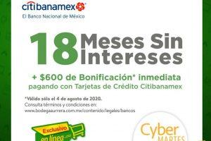 Bodega Aurrera: 18 msi + Bonificación de $600 con Citibanamex