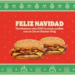 Burger King adelanta la Navidad 2020: 2x1 en Stacker King y Refresco