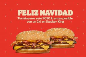 Burger King adelanta la Navidad 2020: 2x1 en Stacker King y Refresco