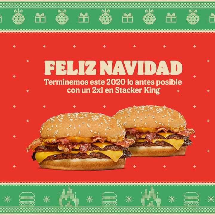 Burger King adelanta la Navidad 2020: 2×1 en Stacker King y Refresco
