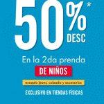Promoción C&A: Segundo a mitad de precio en ropa para niños