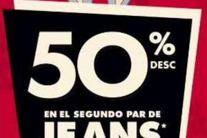 C&A Segundo a mitad de precio en Jeans del 10 al 23 agosto