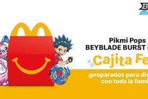 Promoción Nueva Cajita Feliz McDonalds Pikmi Pops y Beyblade Burst