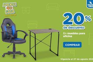 Chedraui: 20% de descuento en muebles de oficina 27 de Agosto 2020