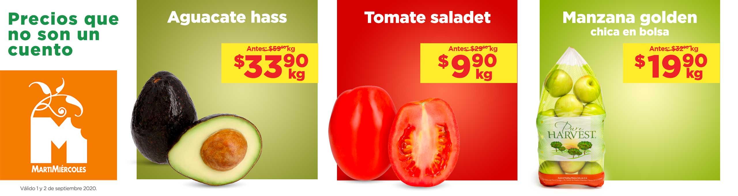 Frutas y Verduras Chedraui 1 y 2 de septiembre 2020