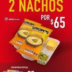 Promoción Cinemex 2 nachos a $65 por reapertura