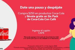 Promoción Coca-Cola en tu hogar Gratis Six pack de Coca-Cola Café
