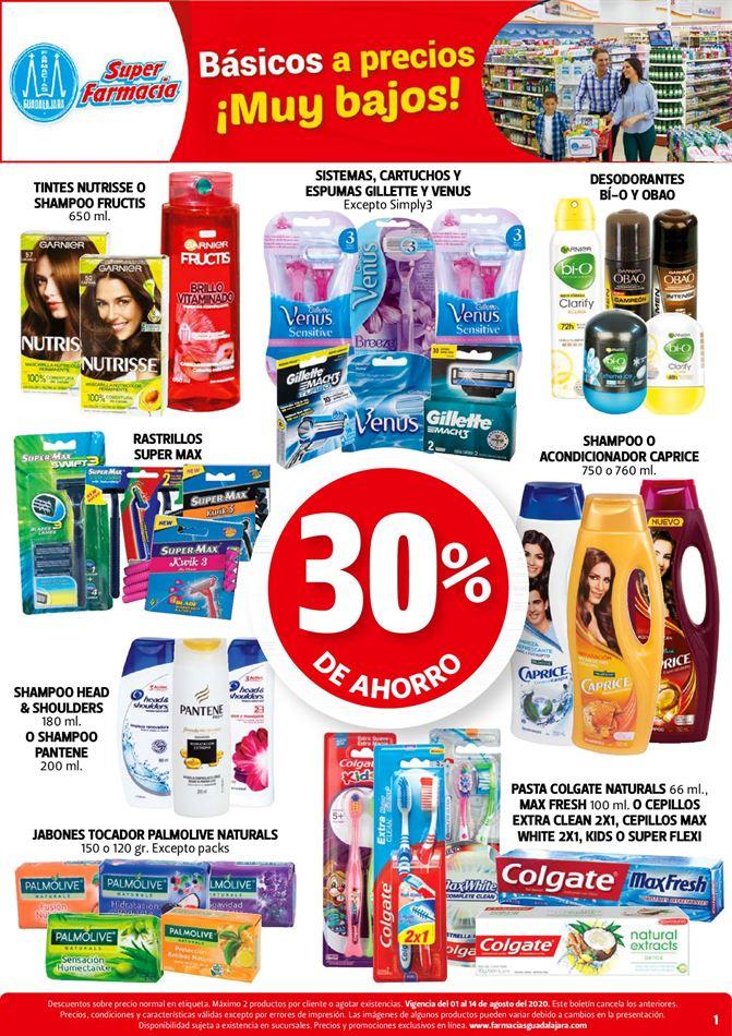 Farmacias Guadalajara – Folleto de ofertas del 1 al 14 de agosto 2020
