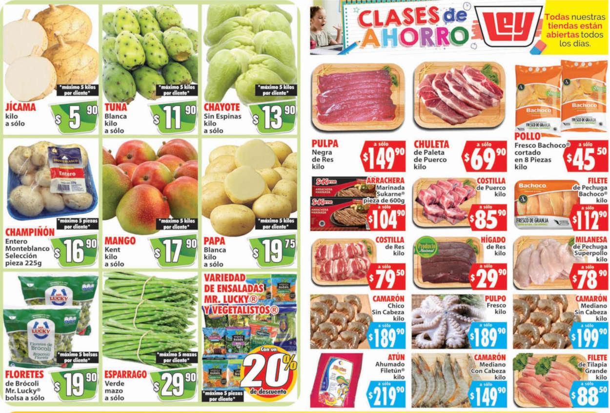 Folleto Casa Ley frutas y verduras 25 y 26 de agosto 2020
