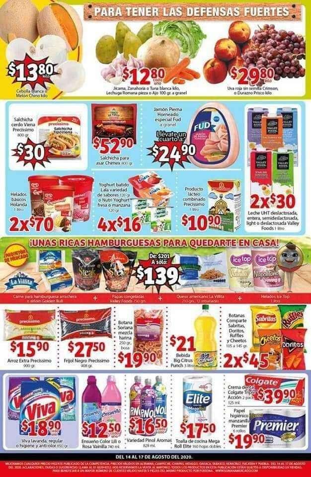 Ofertas Soriana Mercado carnes, frutas y verduras del 14 al 17 de agosto 2020