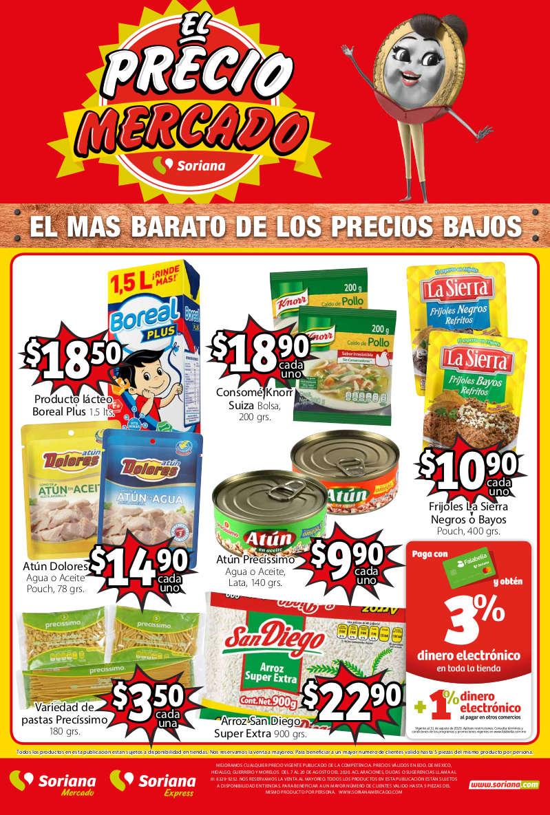 Soriana Mercado – Folleto de ofertas del 7 al 20 de agosto 2020