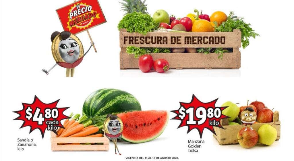Ofertas Soriana Mercado Frutas y Verduras del 11 al 13 Agosto 2020