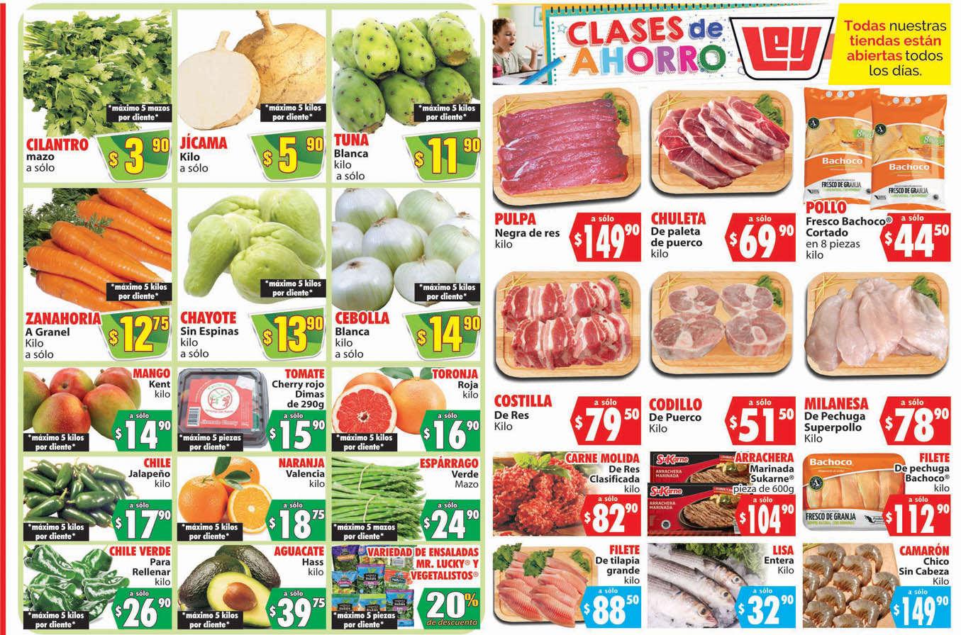 Folleto Casa Ley Frutas y verduras 18 y 19 de agosto de 2020