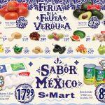 Folleto S-Mart frutas y verduras del 18 al 20 de agosto de 2020