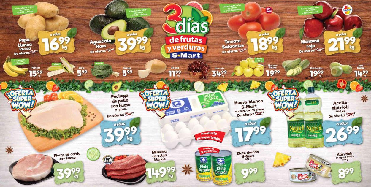 Folleto S-Mart frutas y verduras del 4 al 6 de agosto de 2020