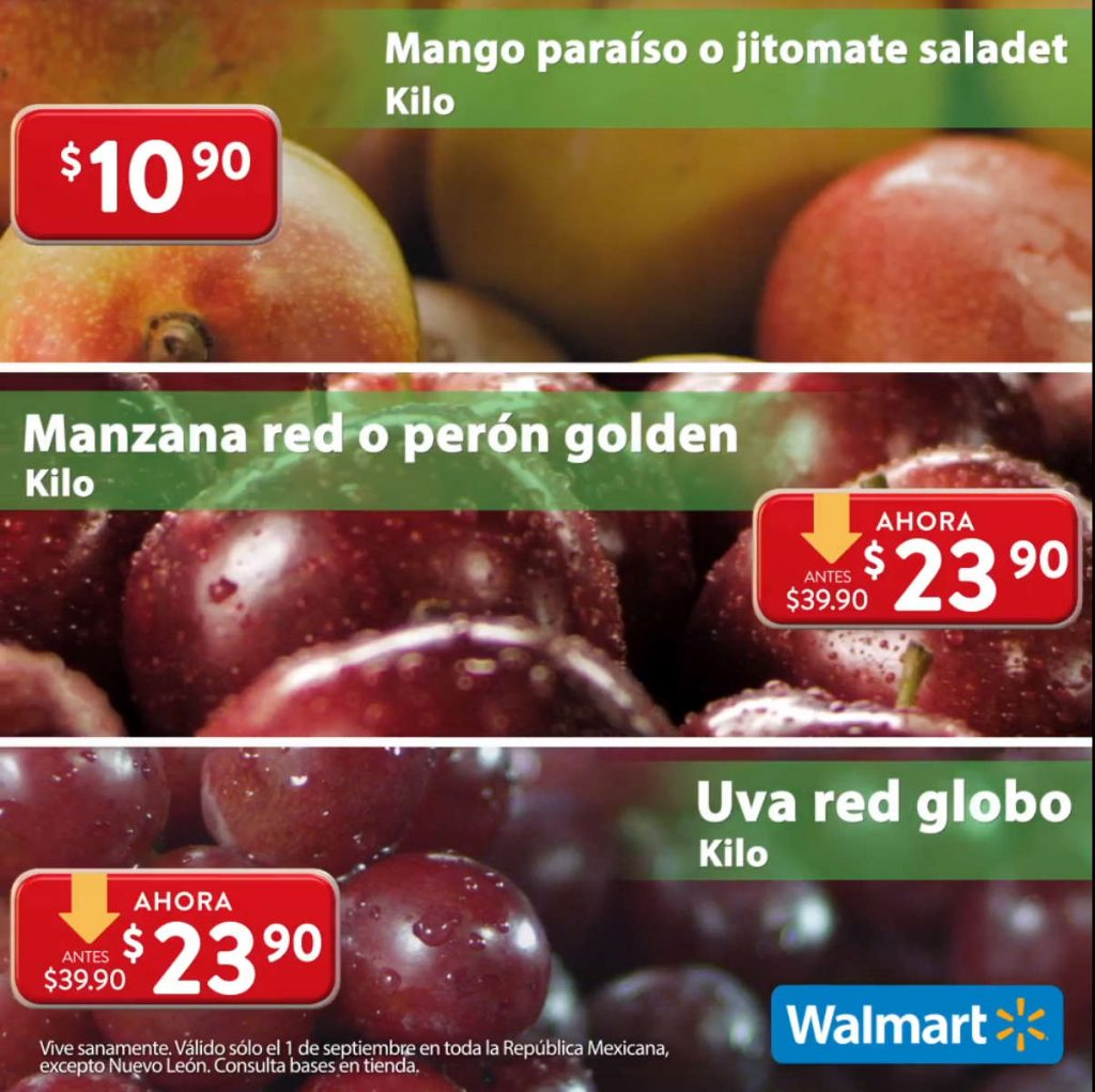 Ofertas Martes de Frescura Walmart 1 de septiembre 2020