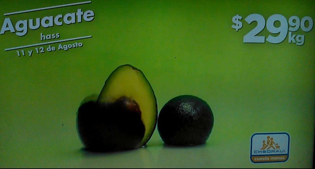 Frutas y Verduras Chedraui 11 y 12 de agosto 2020