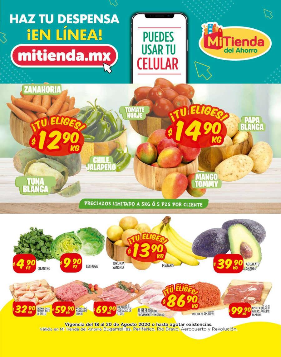 Frutas y Verduras Mi Tienda del Ahorro del 18 al 20 de agosto 2020