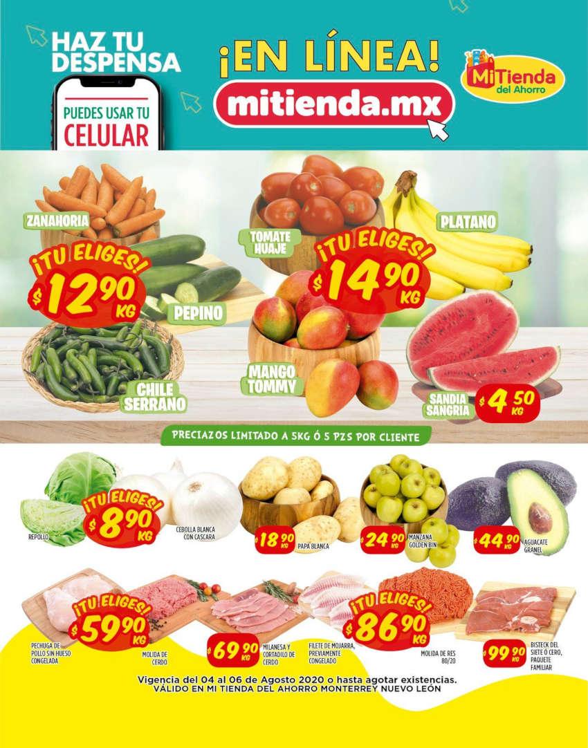 Folleto Mi Tienda del Ahorro Frutas y Verduras del 4 al 6 de agosto 2020