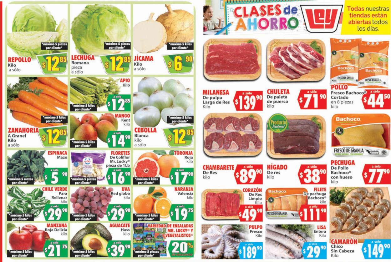 Folleto Casa Ley frutas y verduras 4 y 5 de agosto 2020