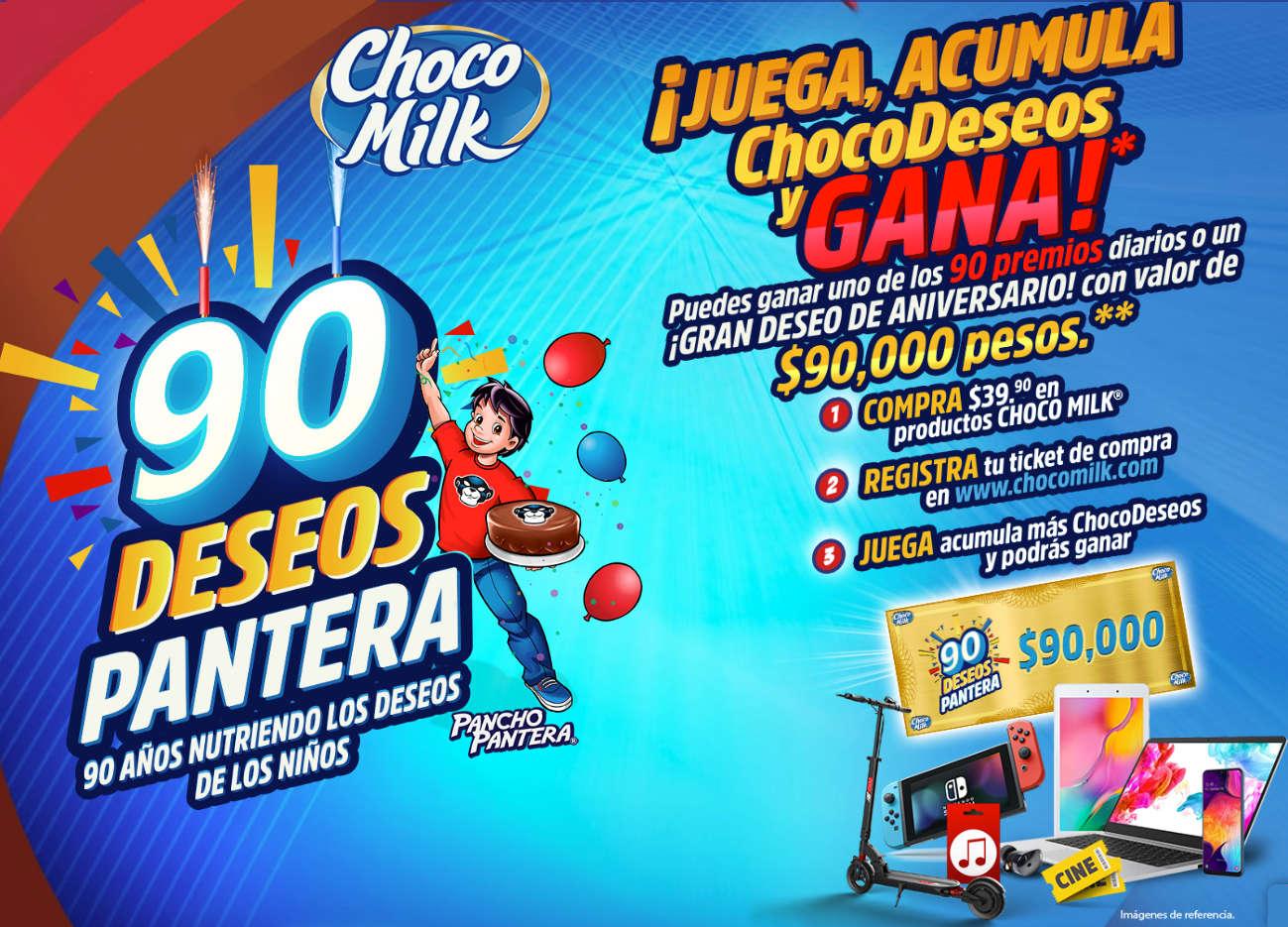 Promoción Chocomilk 2020 Pancho Pantera: Gana $90,000 y Premios