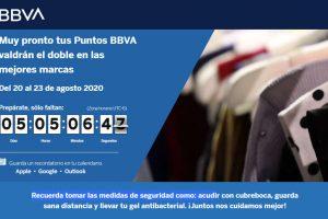 Puntos dobles BBVA Bancomer del 20 al 23 de agosto 2020