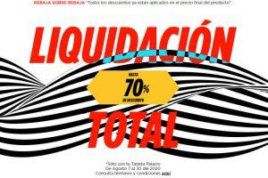 Palacio de Hierro Liquidación Total con rebajas finales de hasta 70% de descuento