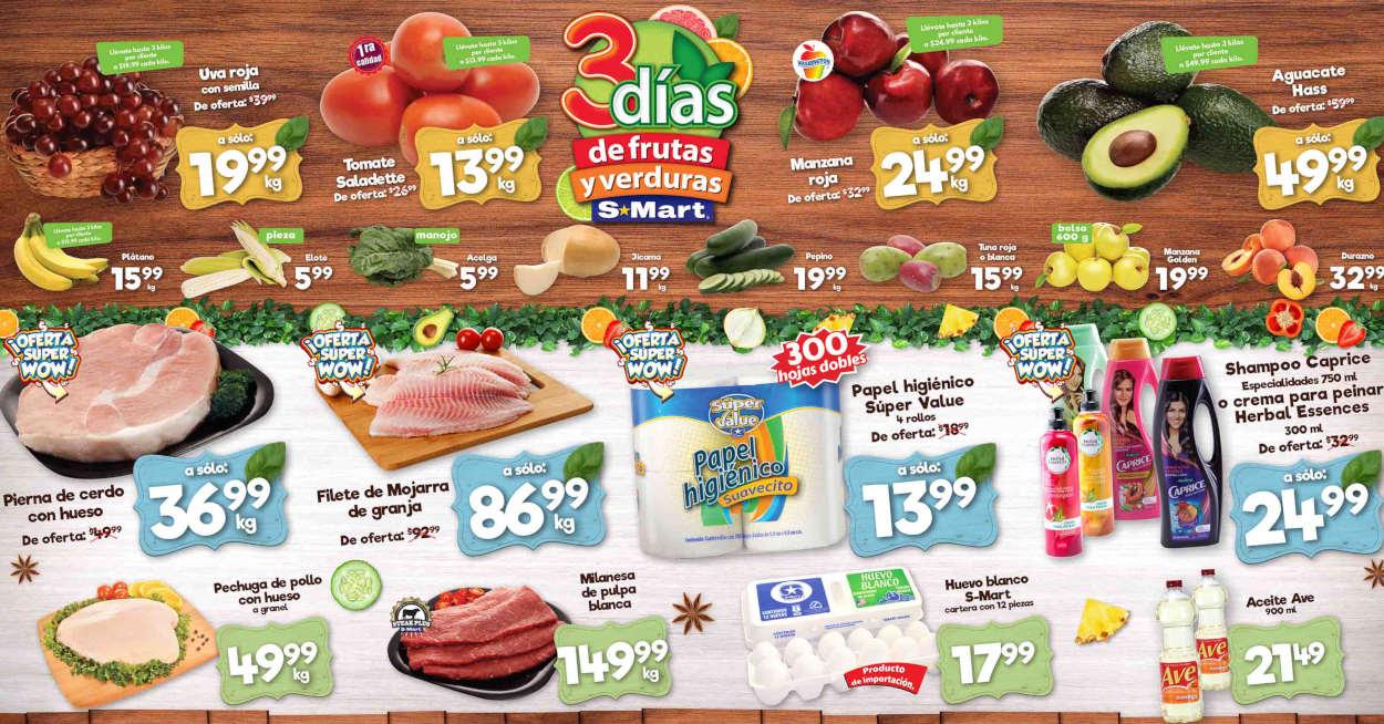 Folleto S-Mart frutas y verduras del 11 al 13 de agosto de 2020