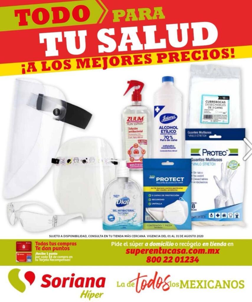 Folleto Soriana Híper Todo para tu Salud del 7 al 31 de agosto 2020