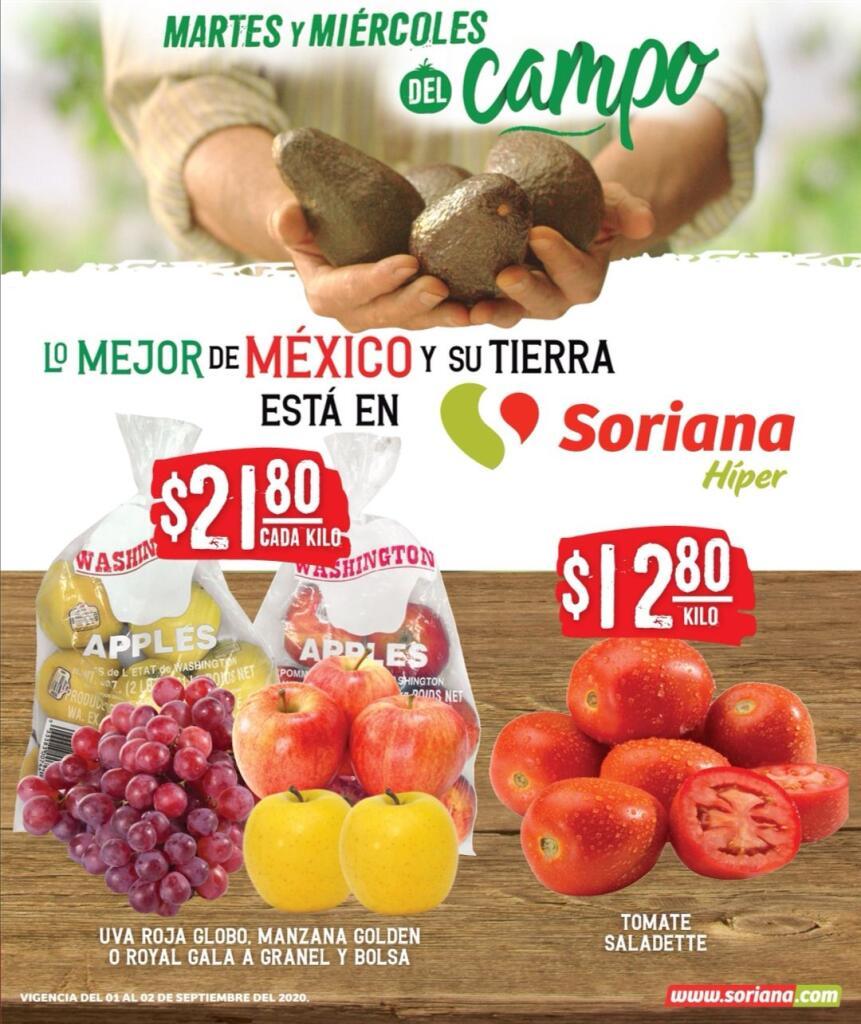 Folleto Soriana Martes y Miércoles del Campo 1 y 2 de Septiembre 2020