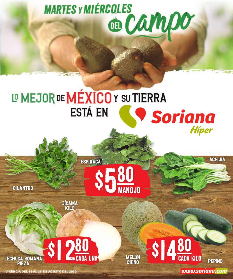 Folleto Soriana Martes y Miércoles del Campo 18 y 19 de Agosto 2020