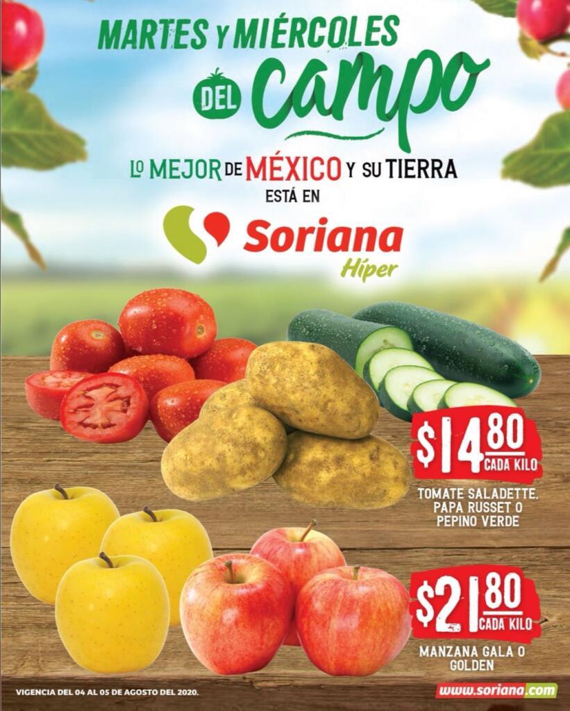 Folleto Soriana Martes y Miércoles del Campo 4 y 5 de agosto 2020