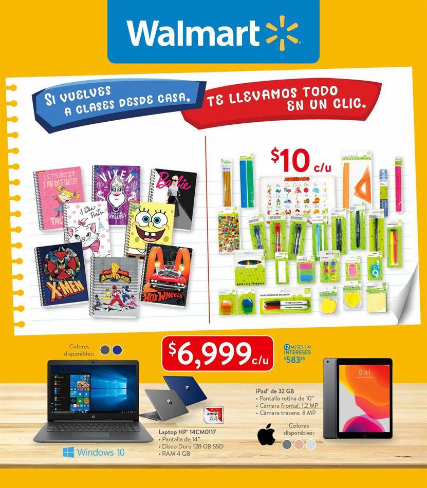 Walmart Folleto Regreso a Clases 14 al 31 de agosto 2020