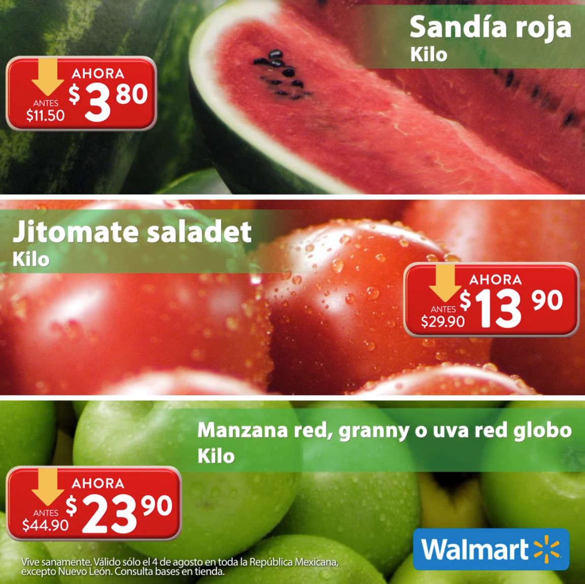 Folleto Martes de Frescura Walmart 4 de agosto 2020