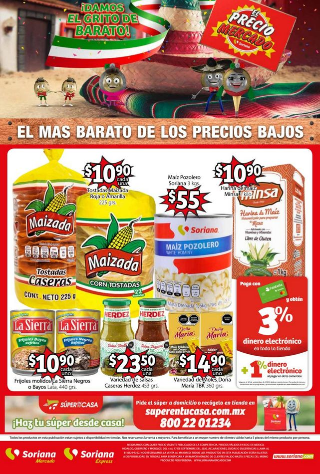 Soriana Mercado – Folleto Fiestas Patrias del 7 al 17 de septiembre 2020