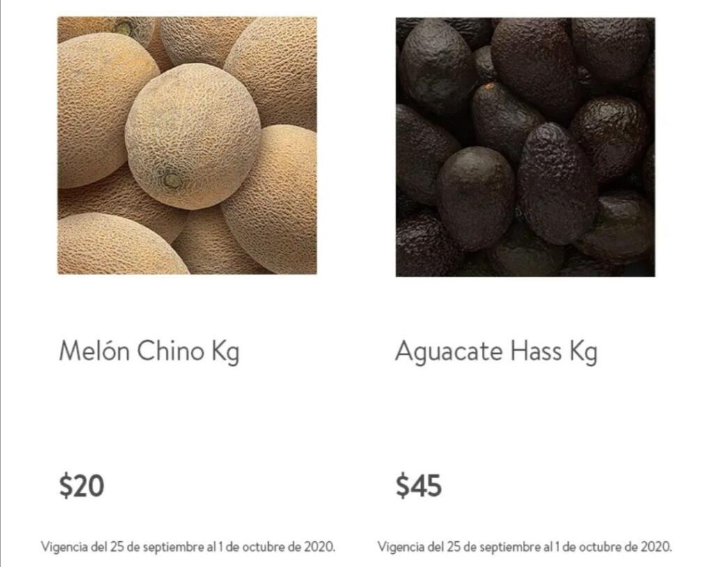 Folleto Tianguis Bodega Aurrerá frutas y verduras 28 de septiembre al 1 de octubre 2020