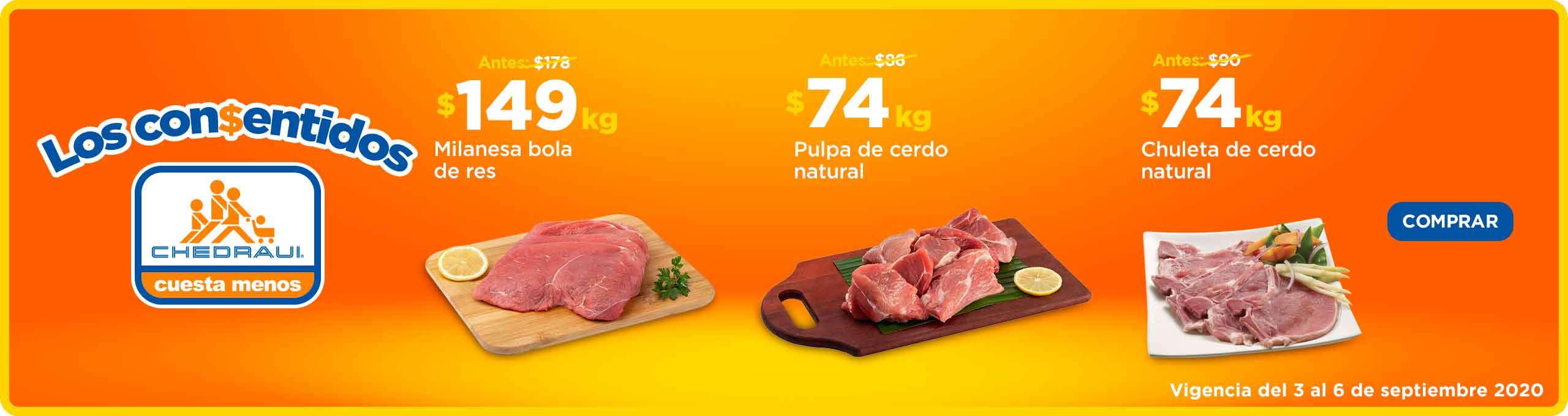 Chedraui: Ofertas en carnes del 3 al 6 de septiembre 2020