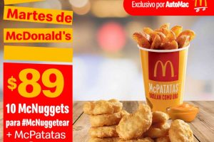 Cupones McDonalds Martes de 8 de septiembre 2020