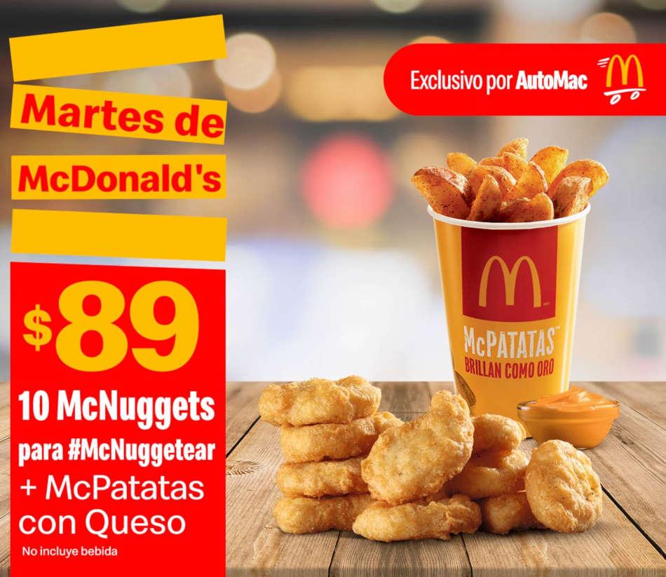 Cupones McDonalds Martes de 8 de septiembre de 2020
