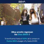 Promoción Días BBVA Bancomer del 25 al 27 de septiembre 2020